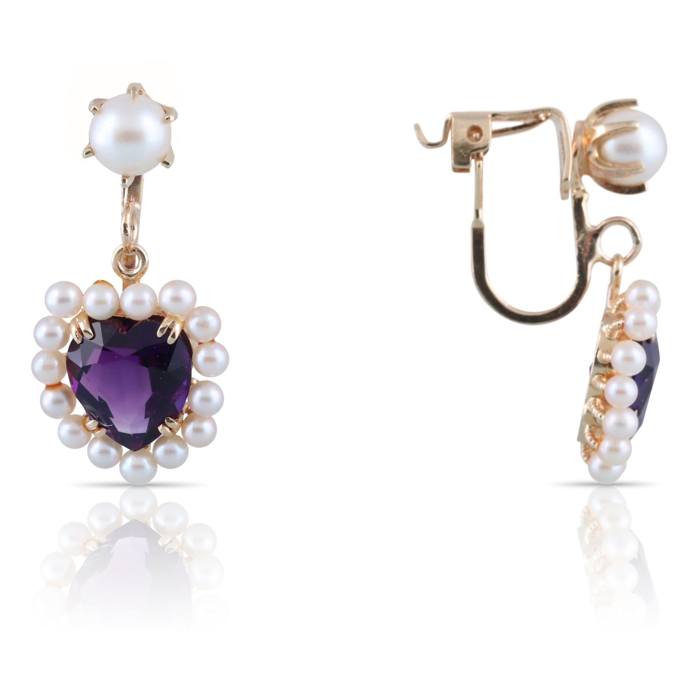 Amethyst Heart Earrings | The Dominic