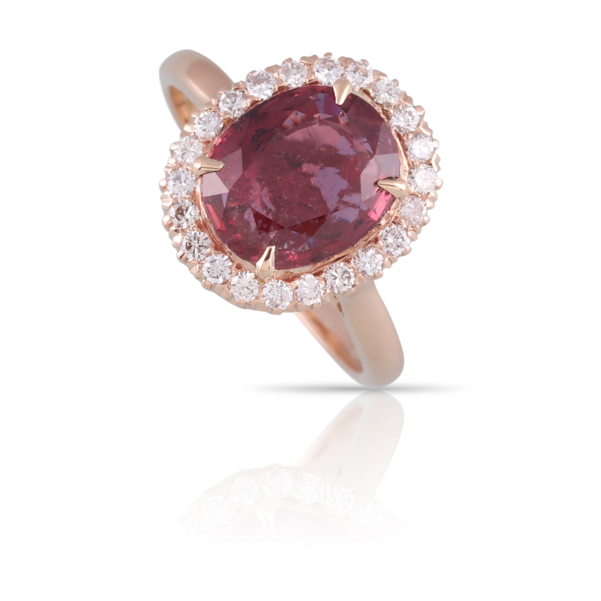 Ruby Halo Ring | The Zeke