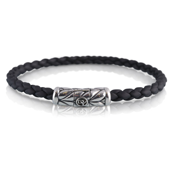 David Yurman Black Rubber Braided Bracelet | The Nina