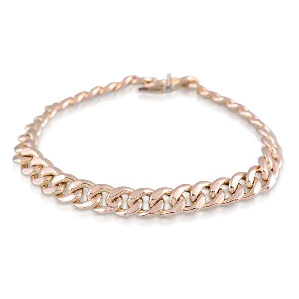 Yellow Gold Chain Bracelet | The Cleo