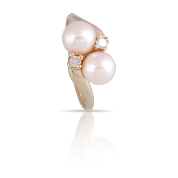 Pearl and Diamond Ring | The Dahlia
