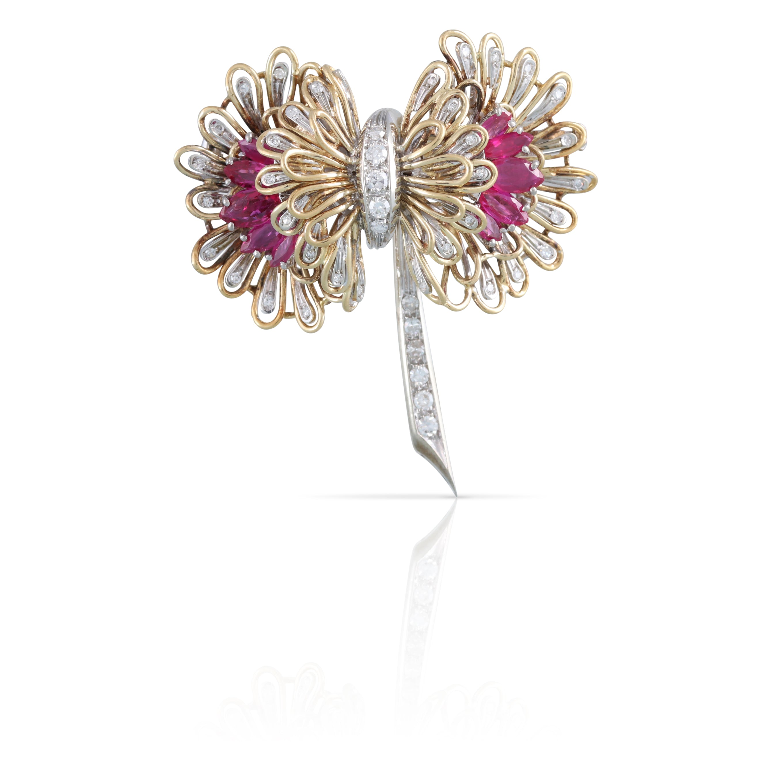 Ruby and Diamond Brooch | The Bonnie