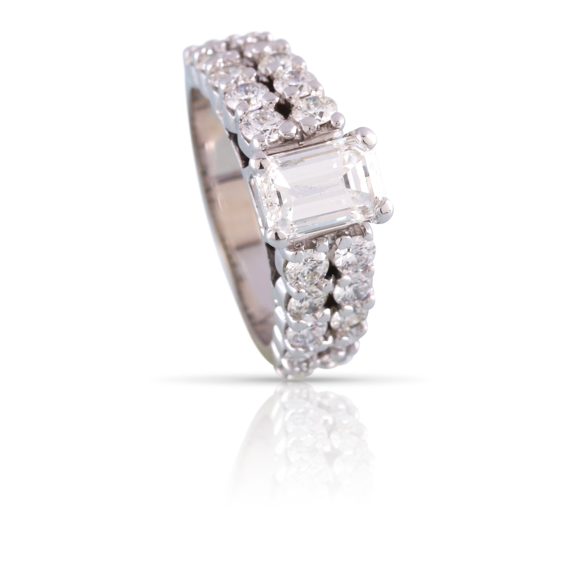 Emerald Cut Diamond Ring | The Primrose