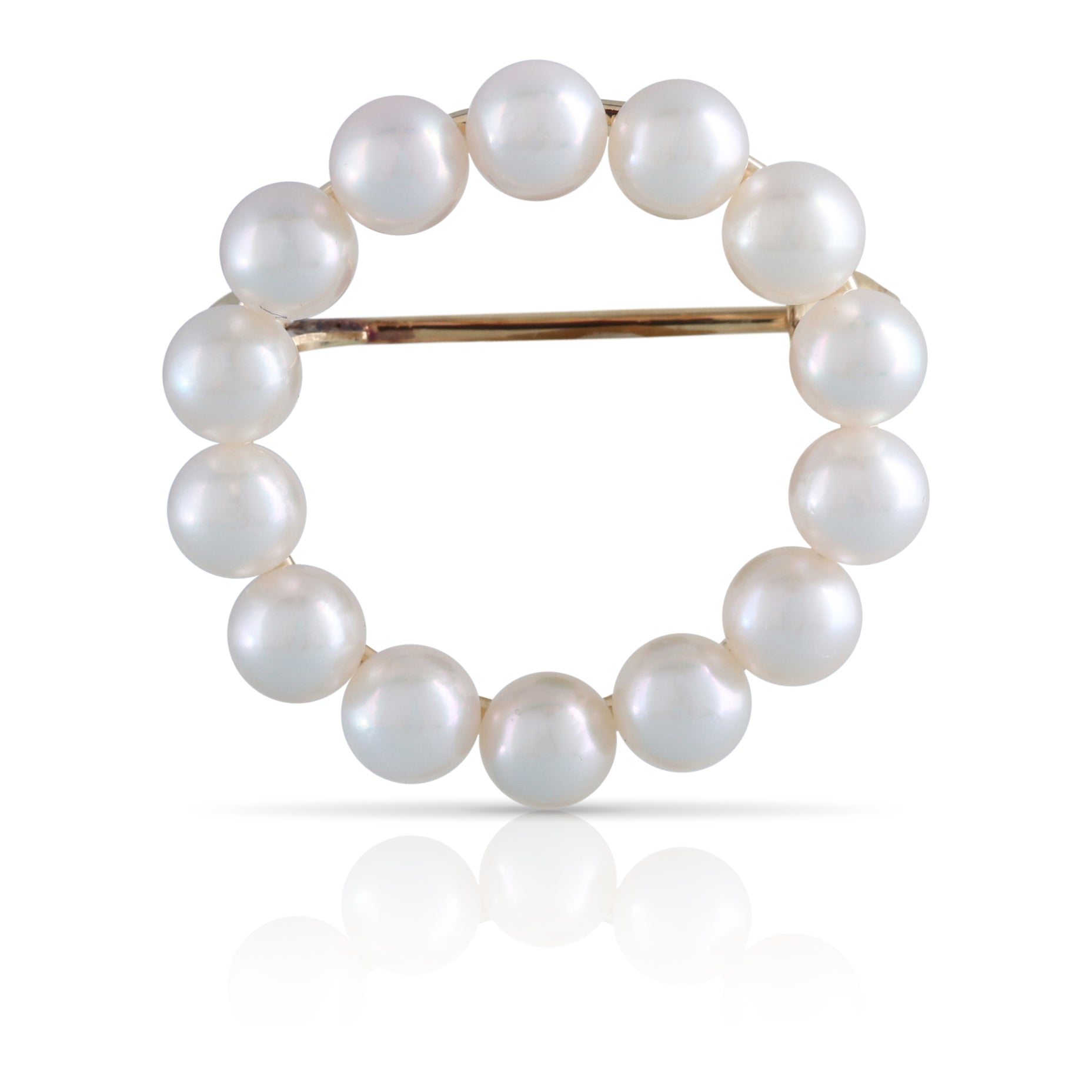 Pearl Circle Brooch | The Kyra
