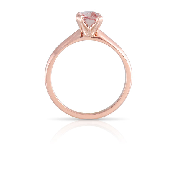 Pink Sapphire Solitaire Ring | The Alicia