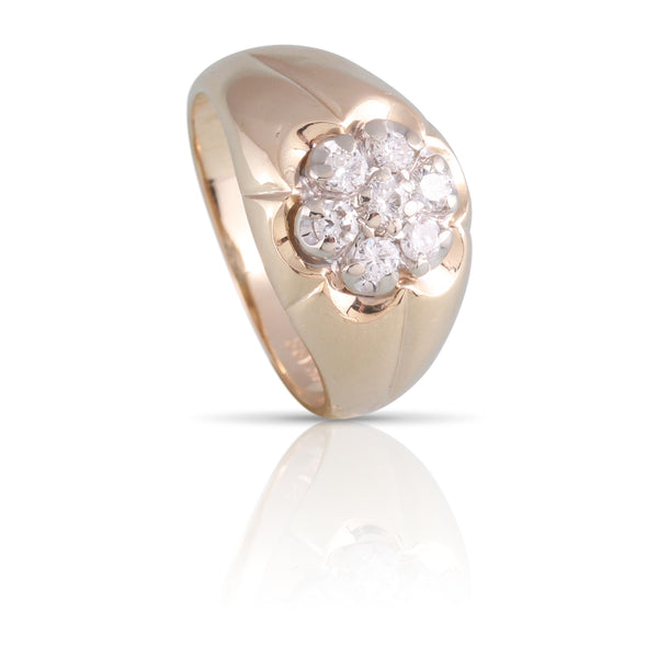 Diamond Cluster Ring | The Lilian
