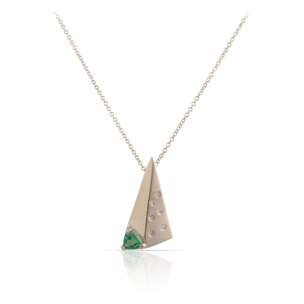 Peridot and Diamond Pendant | The Aviana
