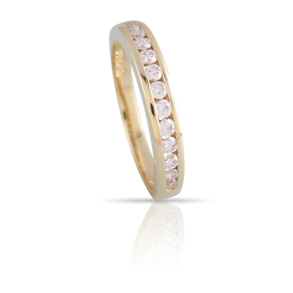 Diamond and Gold Channel Set Band | The Natalie