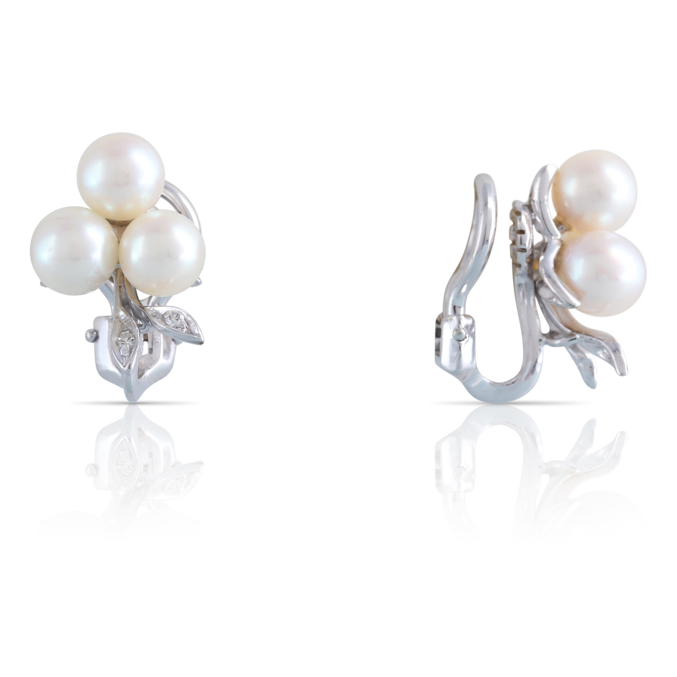 Pearl and Diamond Earrings | The Leona