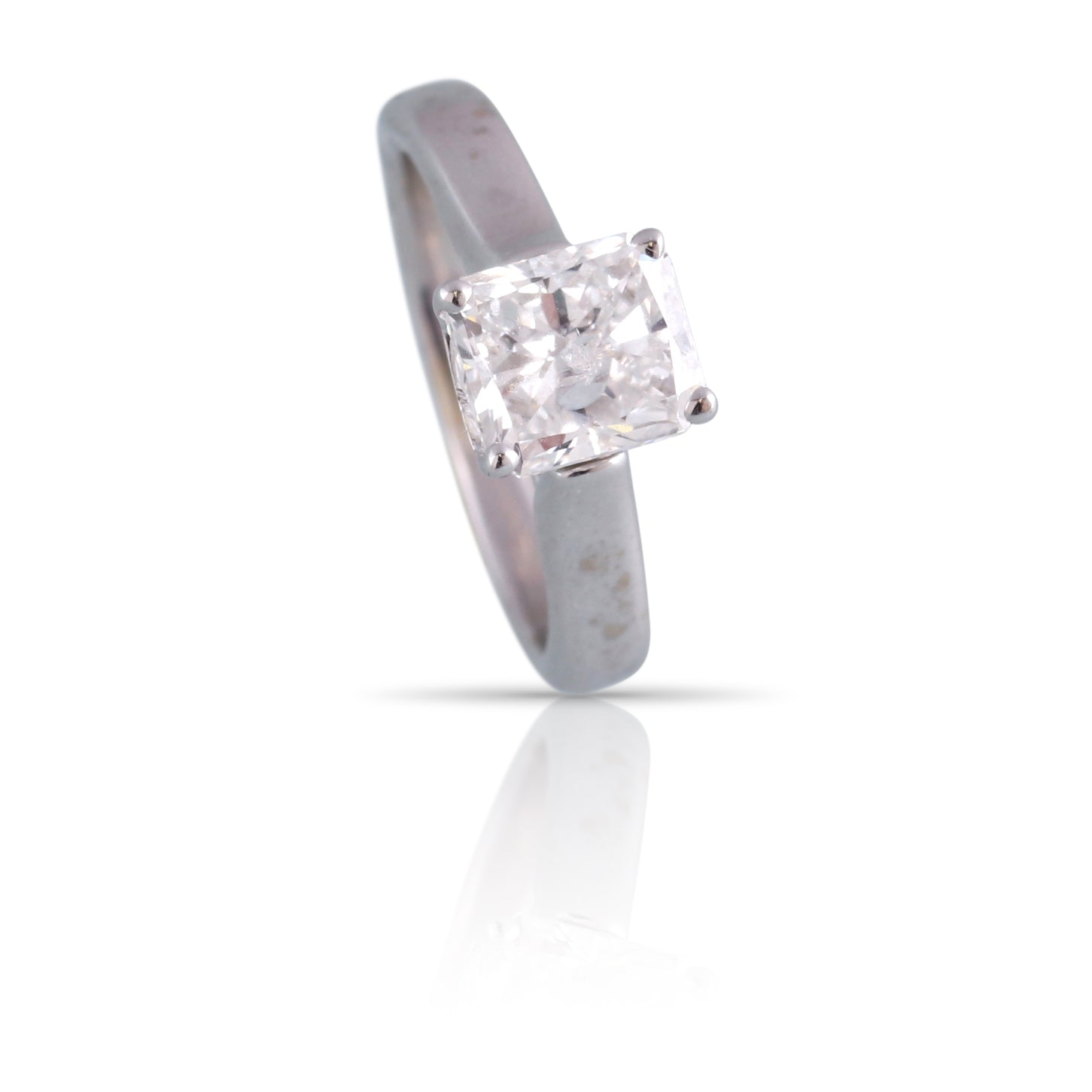 Radiant Cut Diamond Solitaire Ring | The Alyssa