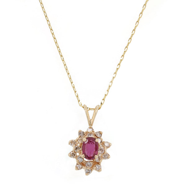 Ruby and Diamond Pendant Necklace | The Gavin