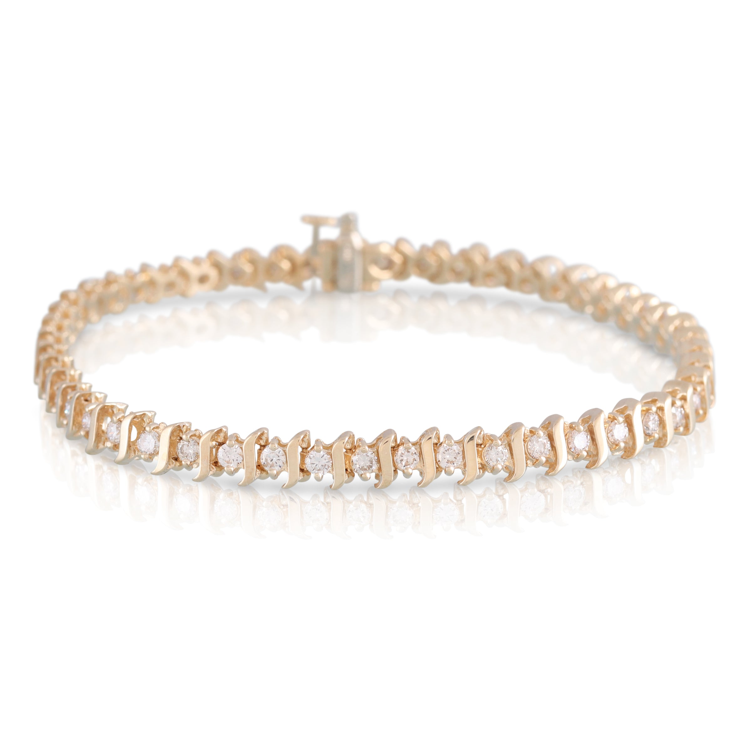 Diamond and Gold Link Bracelet | The Rhys