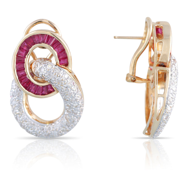 Ruby and Diamond Earrings | The Ewan