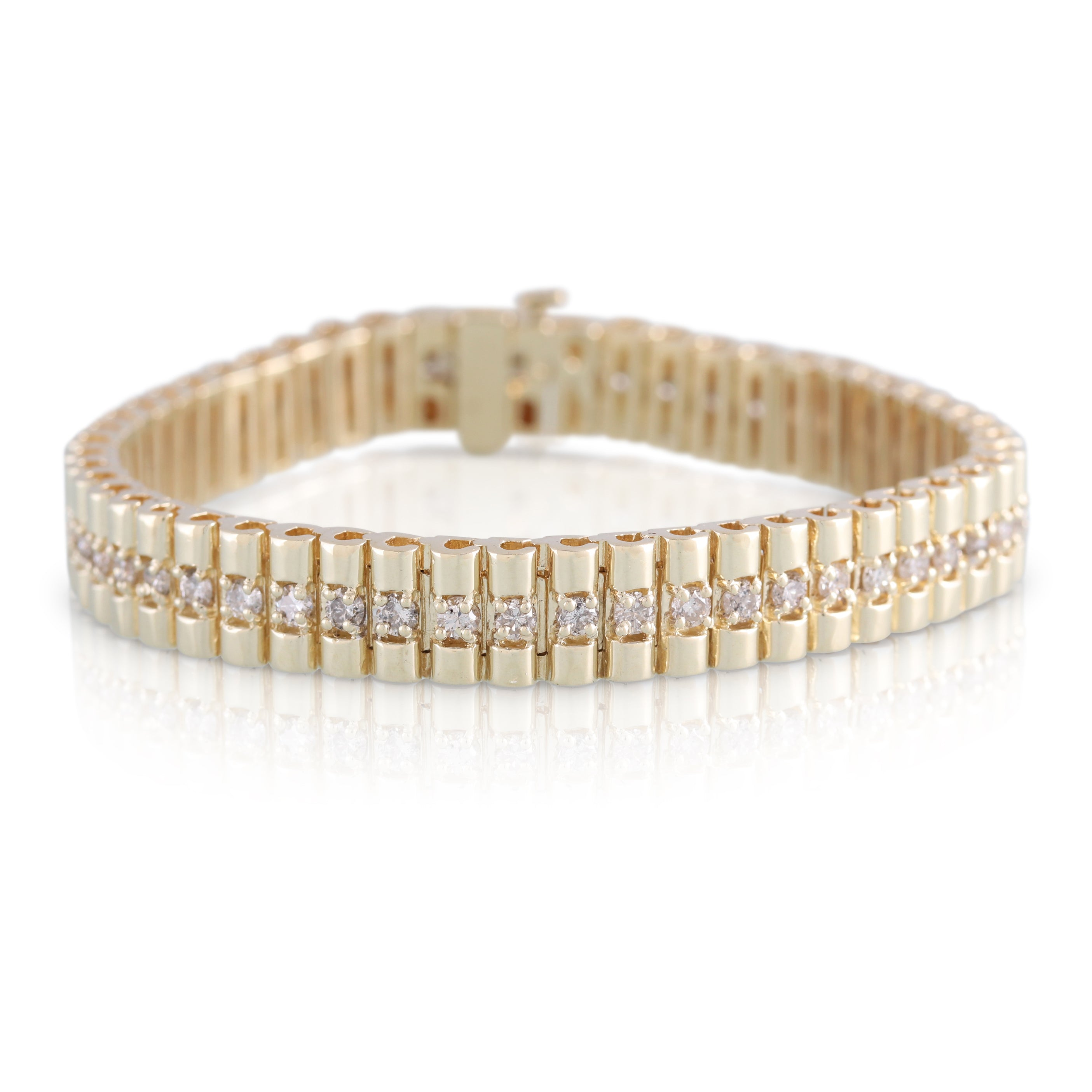 Diamond and Gold Link Bracelet | The Chester