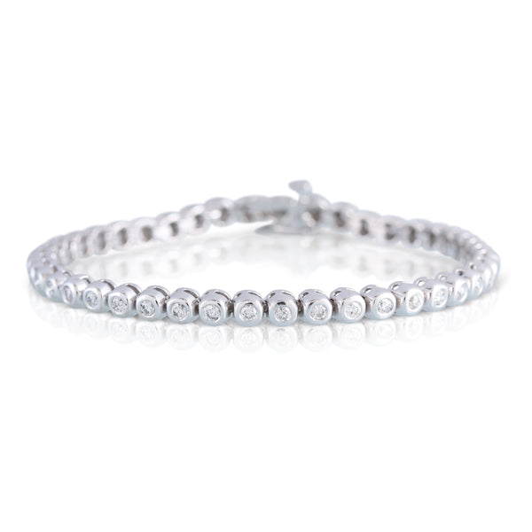 Bezel Set Diamond Bracelet | The Paul