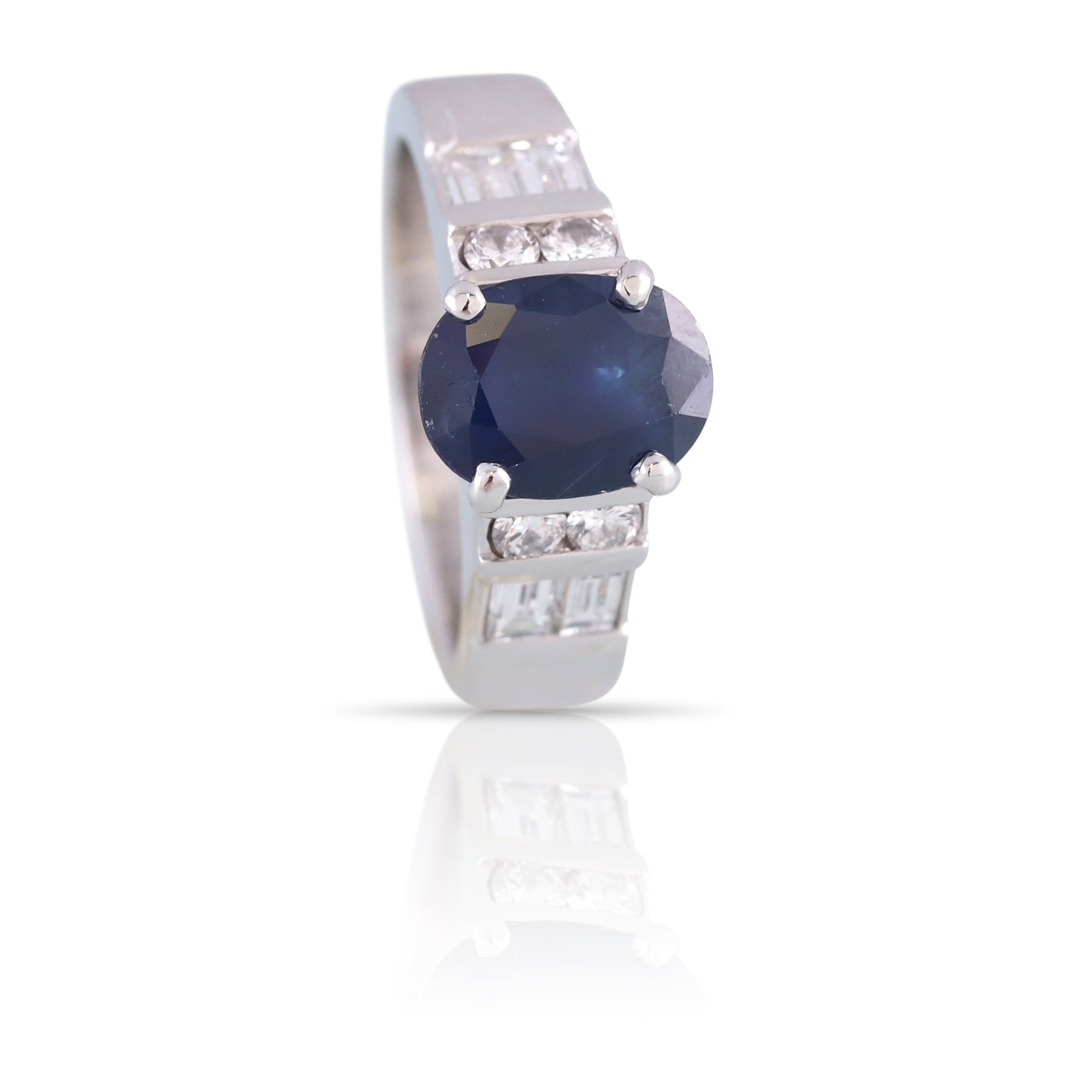 Oval Sapphire and Diamond Ring | The Torin