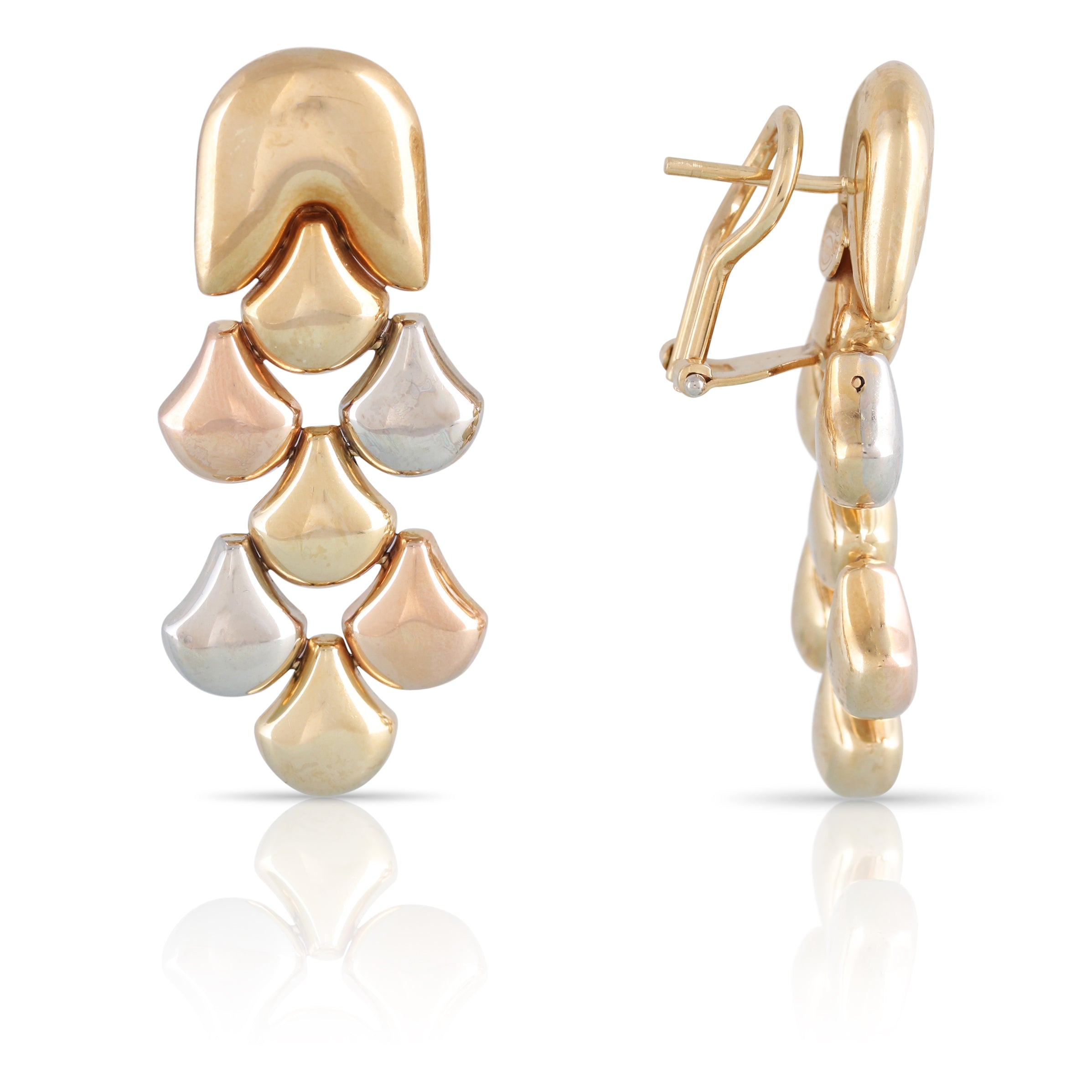 Chimento Tri-Tone Gold Earrings | The Cedric