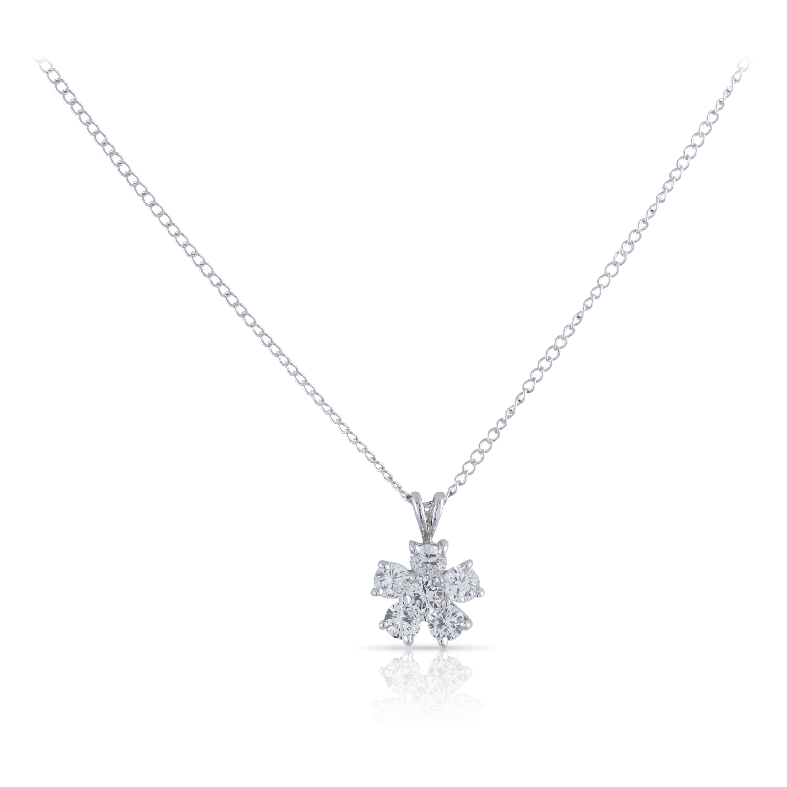 Diamond Flower Pendant | The Hendrix