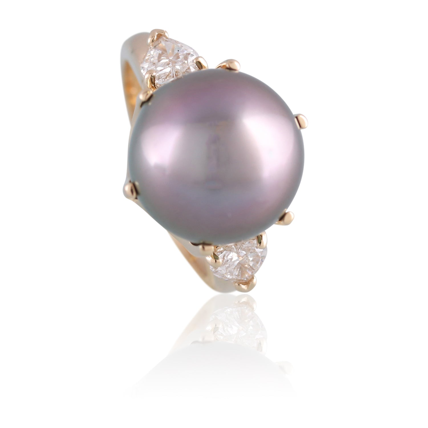 Tahitian Pearl and Diamond Ring | The Seamus