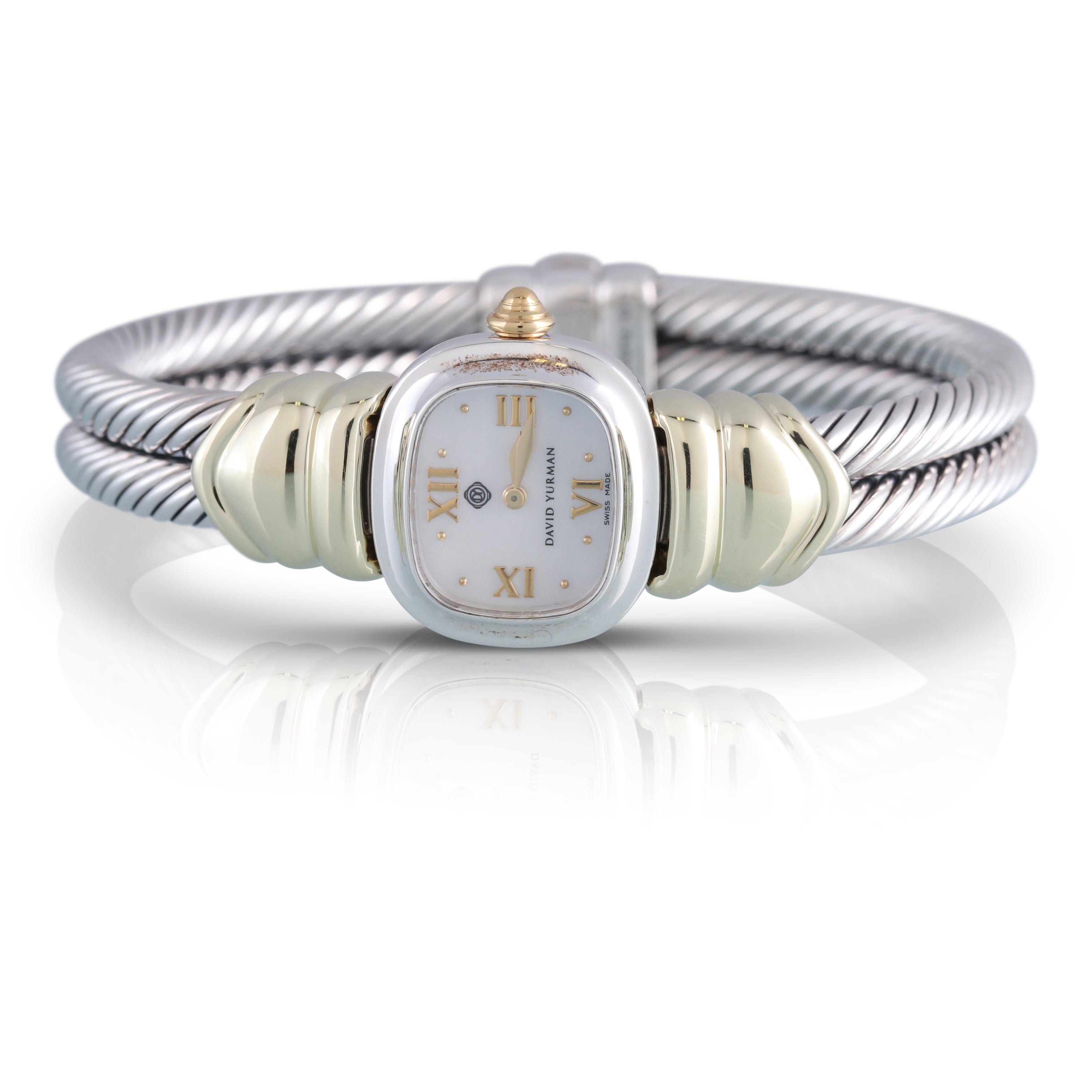 David Yurman Sterling Silver and Yellow Gold Watch | The Celia