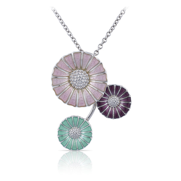 Enamel Daisy Pendant | The Annalise