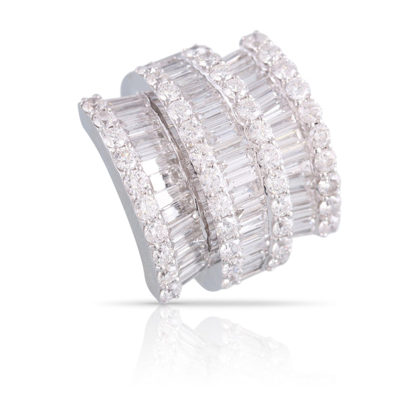 Baguette and Round Diamond Cocktail Ring | The Marina