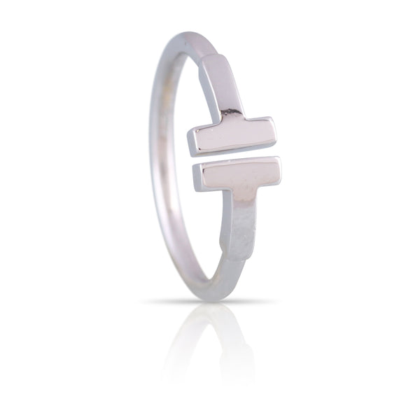 Tiffany & Co White Gold T Ring | The Lilith