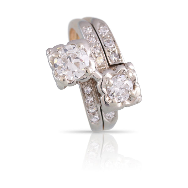Old European Cut Diamond Bypass Ring | The Lyla