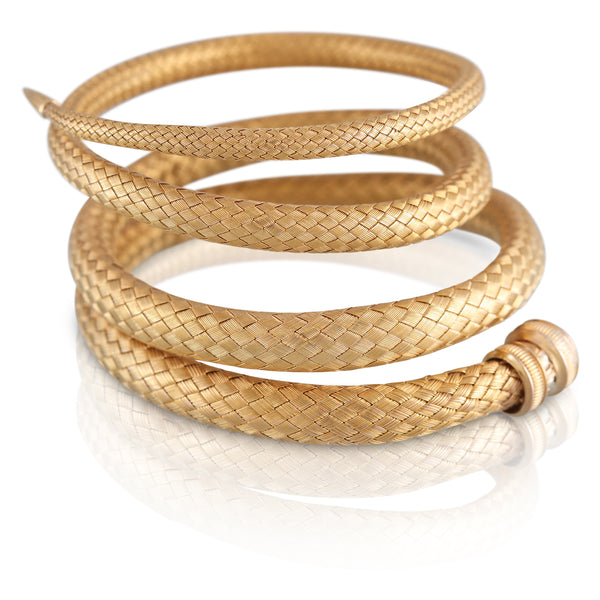 Yellow Gold Woven Bracelet | The Juno