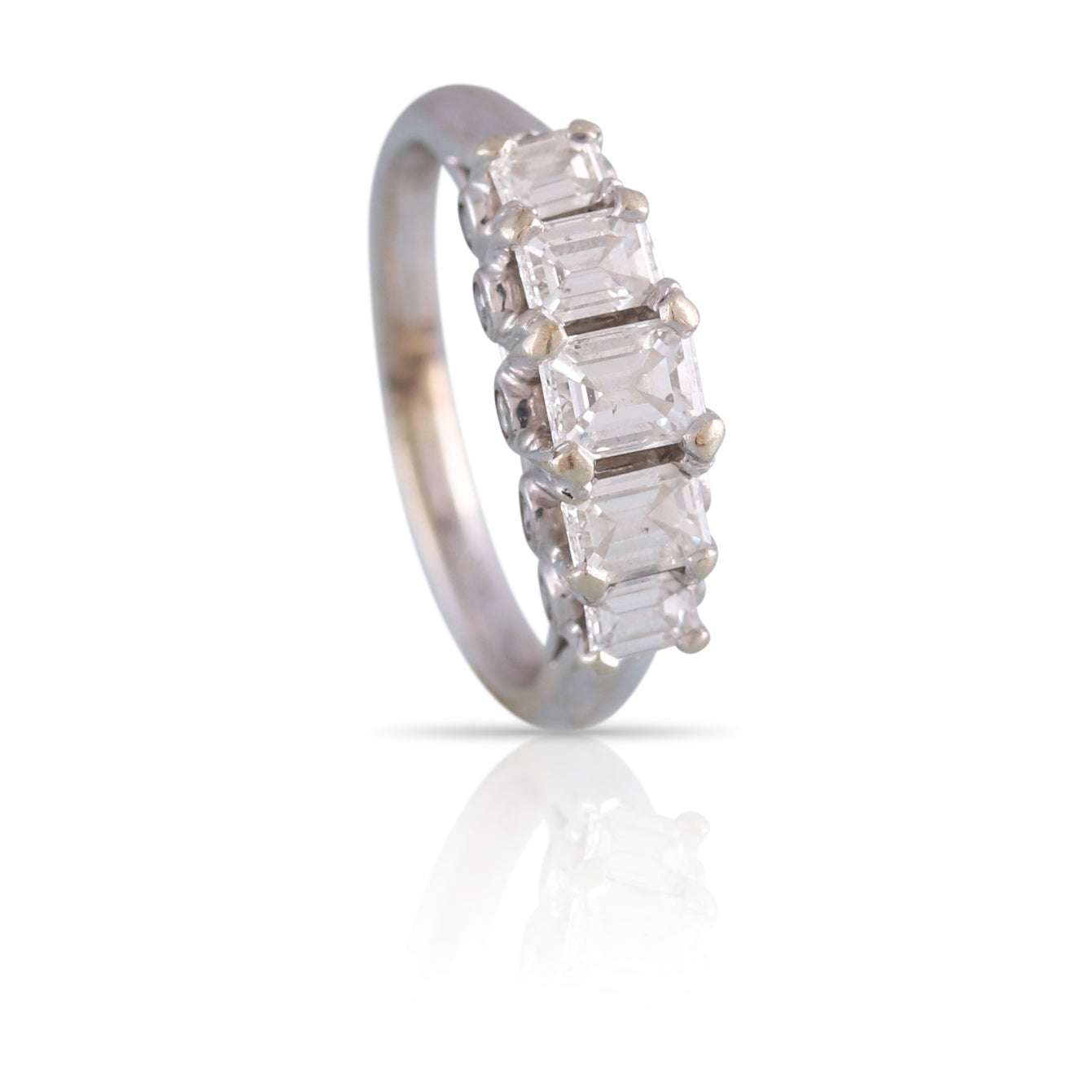 Emerald Cut Diamond Five-Stone Ring | The Apollo