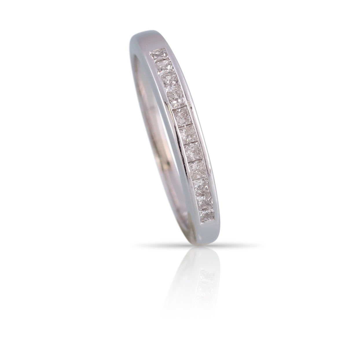 Princess Cut Diamond Band | The Rowan