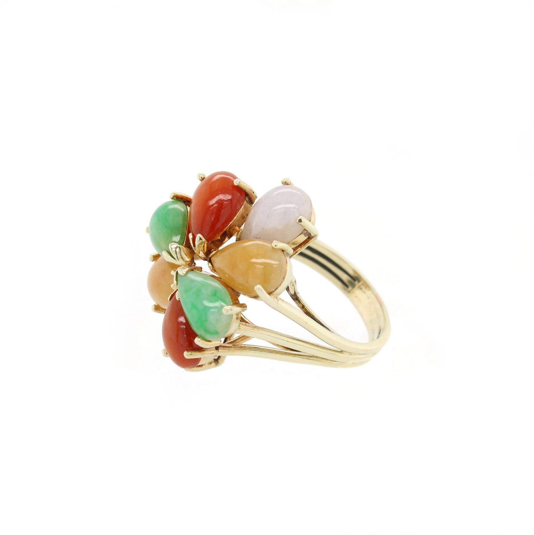 Jade Cluster Ring