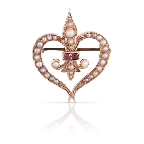 Seed Pearl and Ruby Pin | The Colette
