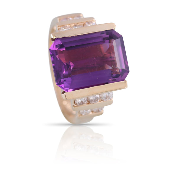 Amethyst and Diamond Ring | The Valerie