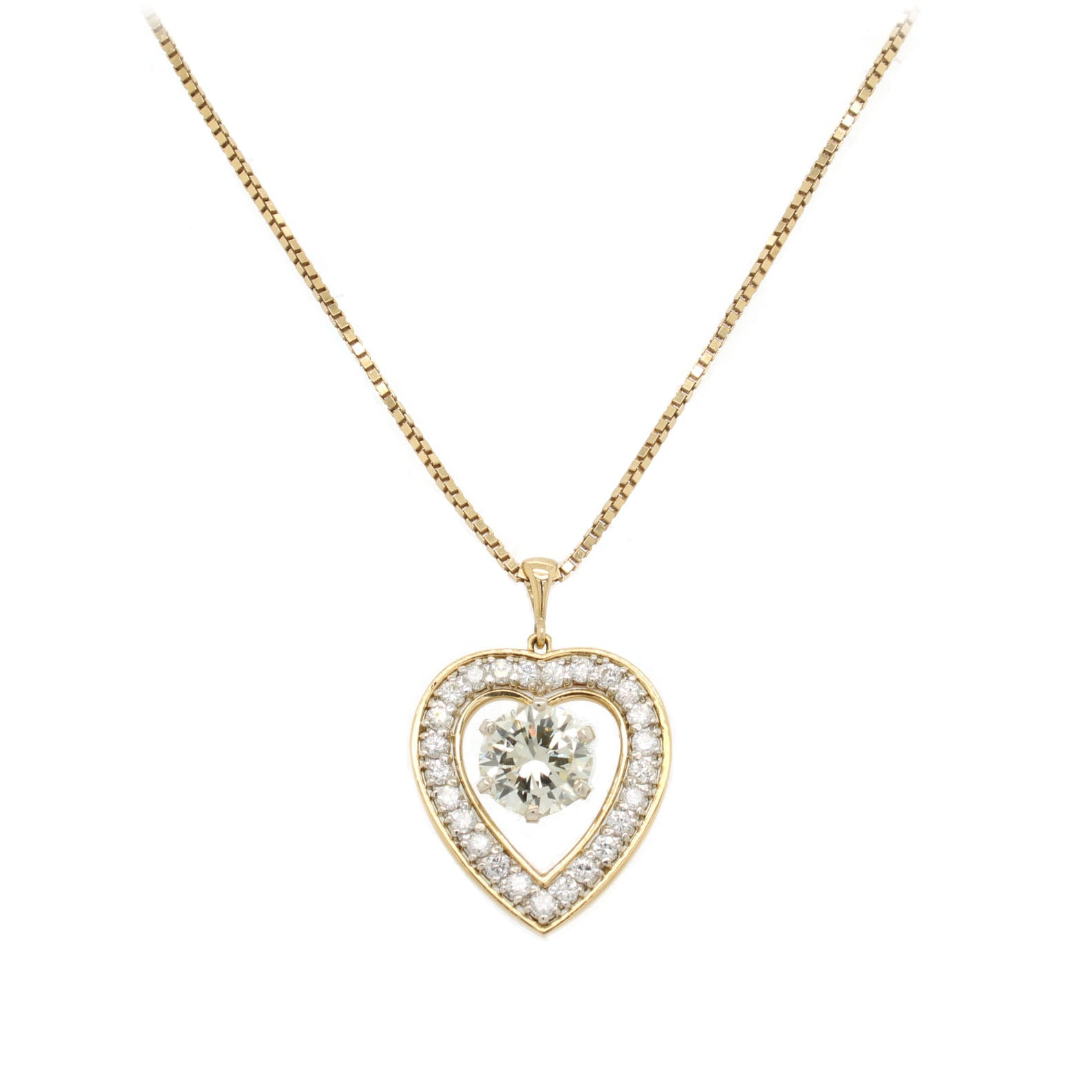 Heart Halo Necklace