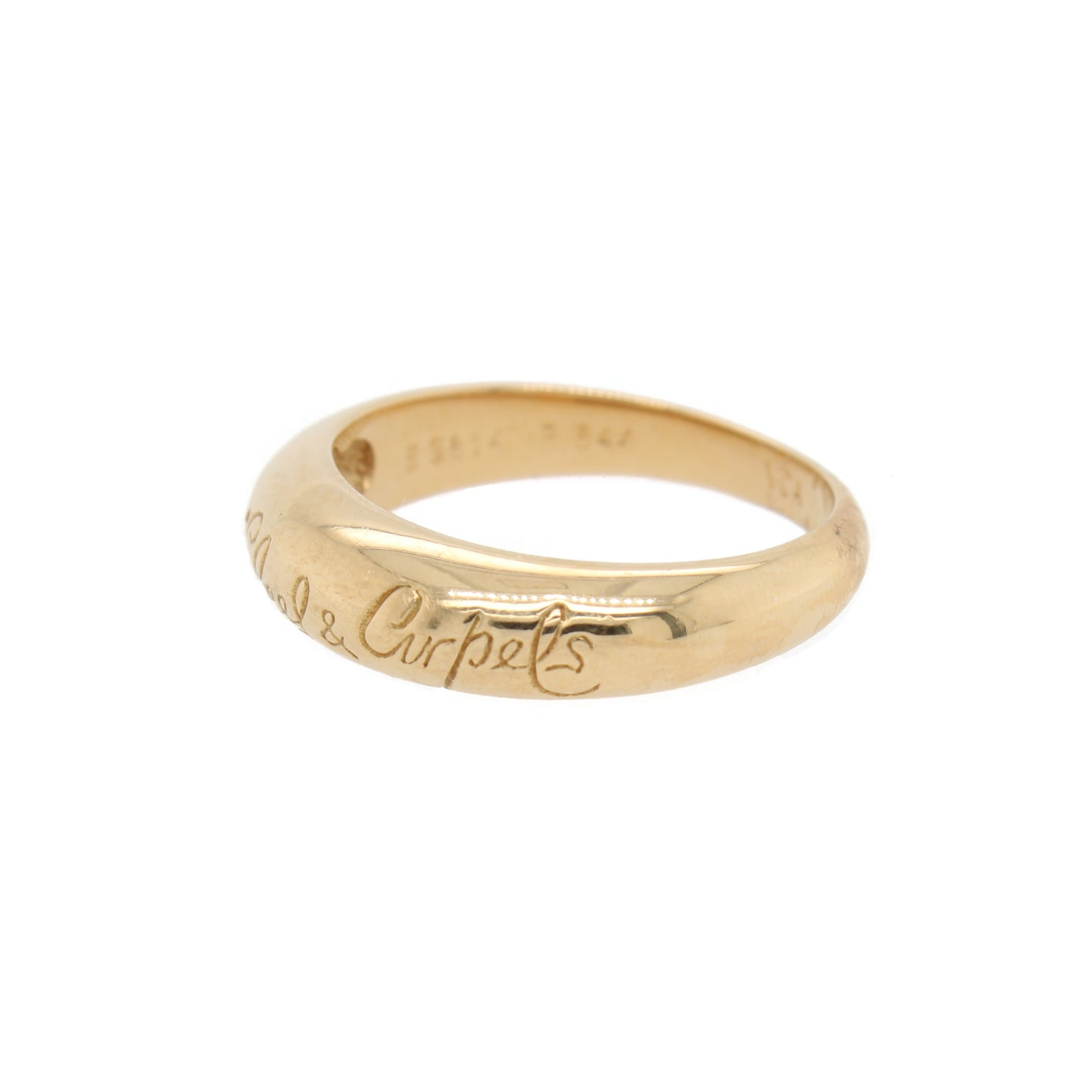 Van Cleef & Arpels Engraved Gold Band