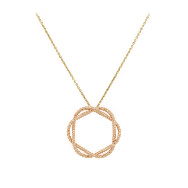 Barocco Circle Pendant Necklace