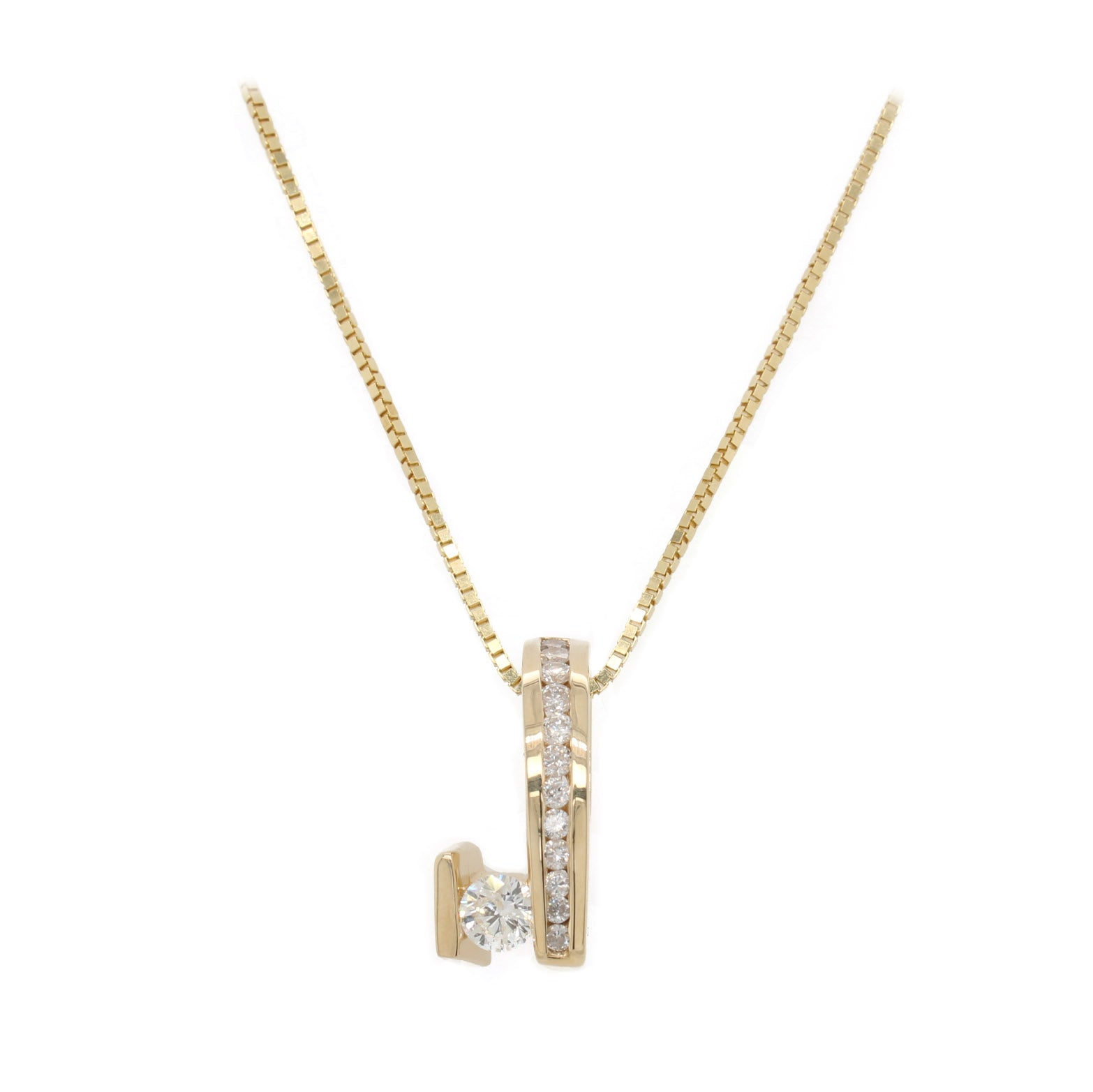 Step Up Diamond Pendant Necklace