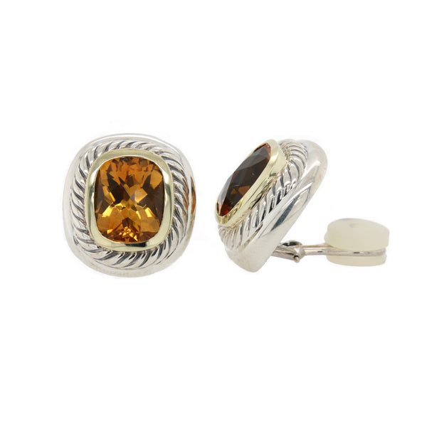Albion Citrine Clip on  Earrings