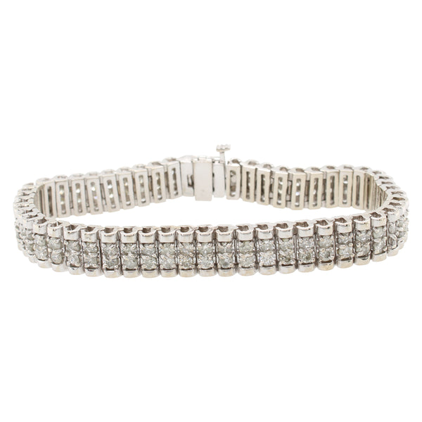 Double Row Diamond Bracelet