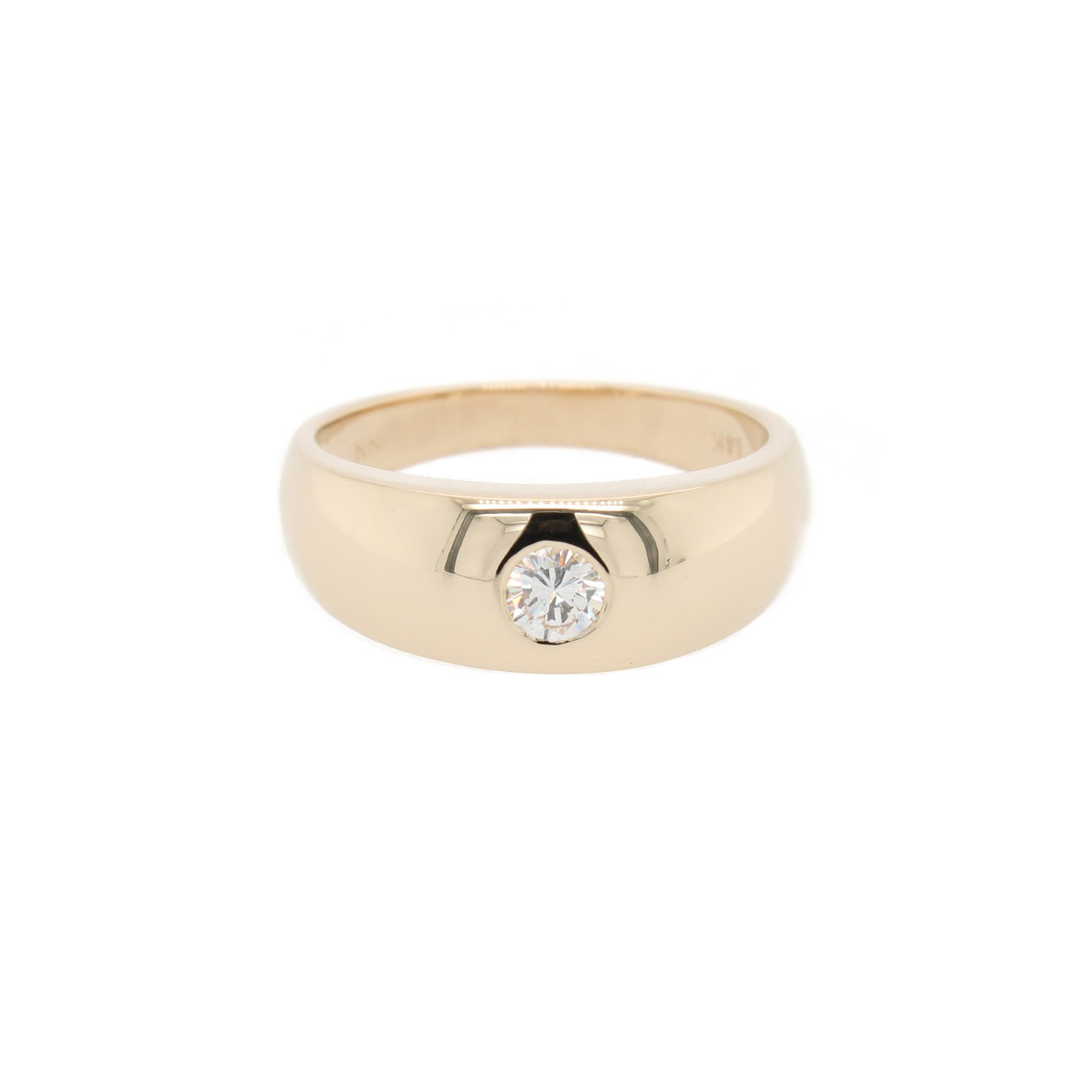 Flush Fit Solitaire Ring
