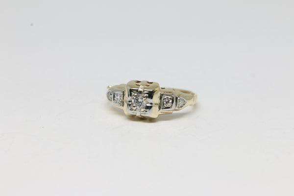Art Deco Five Stone Diamond Ring | The Elsie