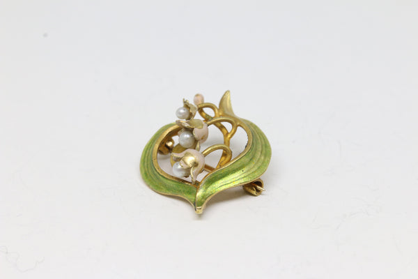 Art Nouveau Era Enamel Pin | The Myrtle