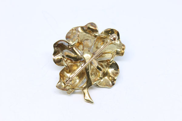 Art Nouveau Enamel and Diamond Pin | The Hattie