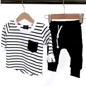 LB Striped Long Sleeve Tee