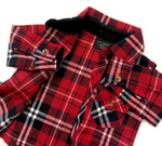 LB Flannel - Red & Black
