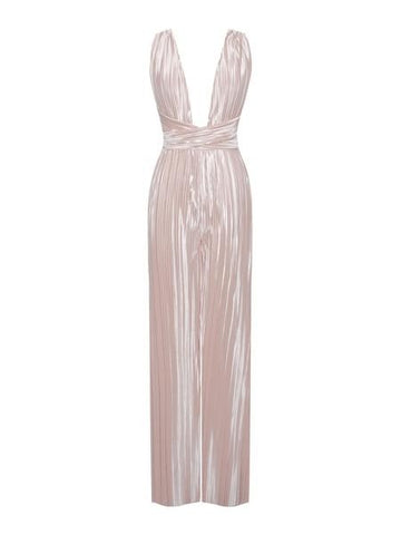 HELENA PLEATED SILK JUMPSUIT