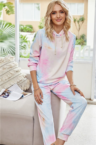 HANG AROUND TIE DYE LOUNGE SET