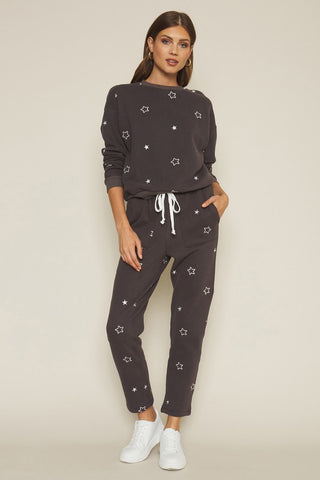 CHARCOAL STAR SWEATSUIT