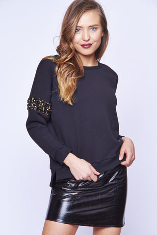 SEQUIN DROP SHOULDER SWEATSHIRT - SHOP MĒKO